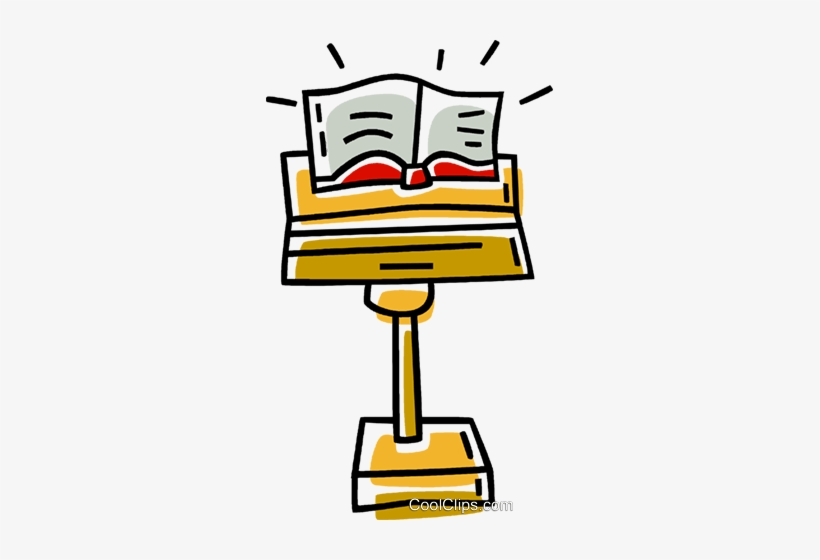 Pulpit clipart picture freeuse stock Bible On A Pulpit Royalty Free Vector Clip Art Illustration ... picture freeuse stock