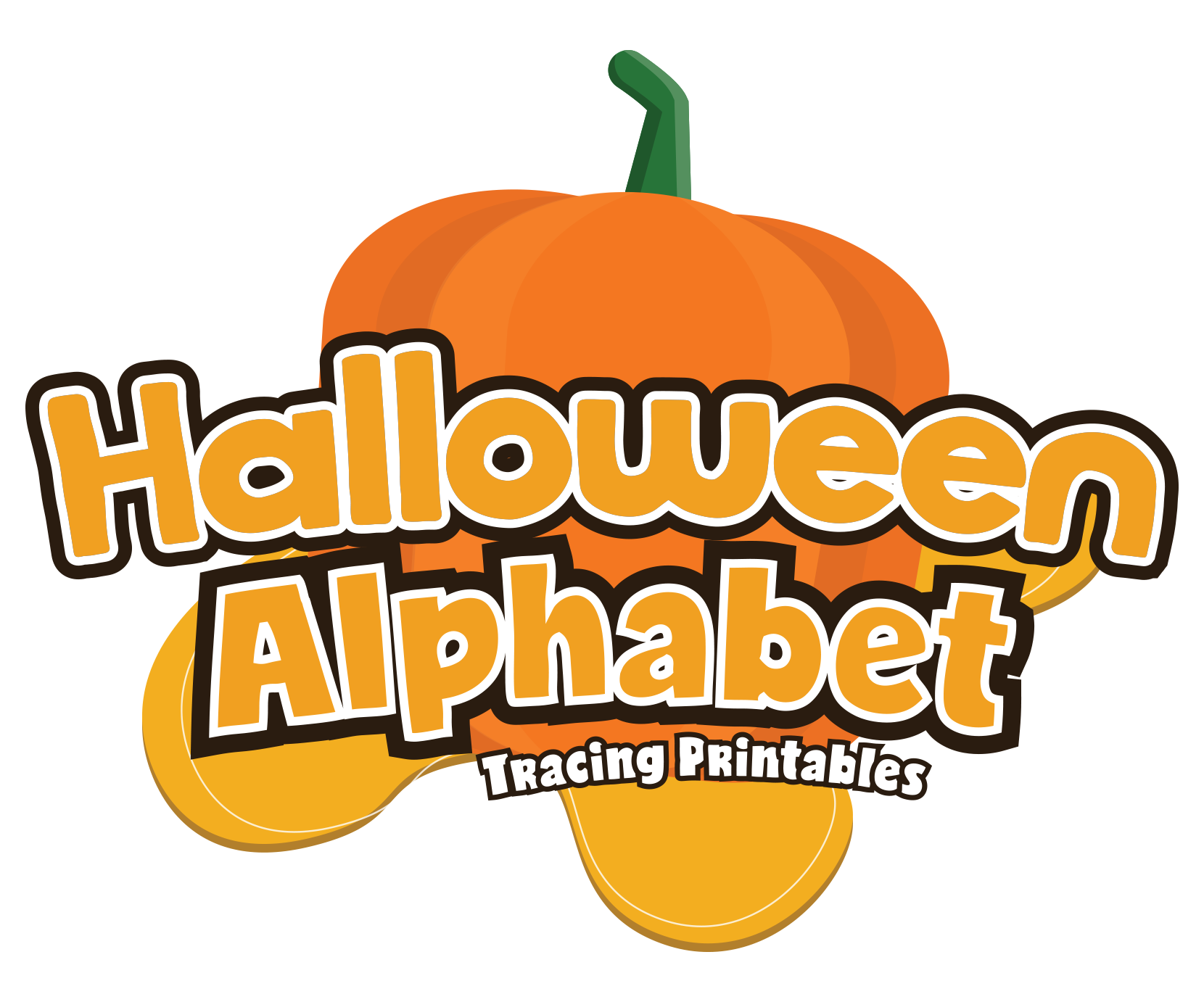 Pumpkin alphabet clipart picture black and white Halloween Alphabet Letter Tracing Pack for Preschoolers — My ... picture black and white