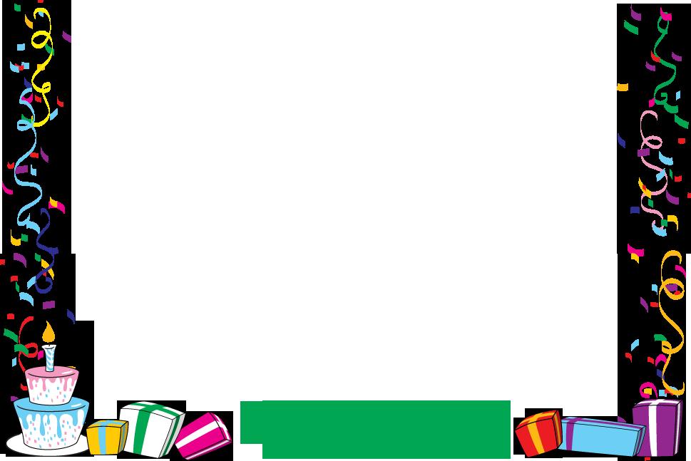 Thanksgiving border clipart free vector royalty free stock Birthday Border Clip Art & Look At Birthday Border Clip Art Clip Art ... vector royalty free stock