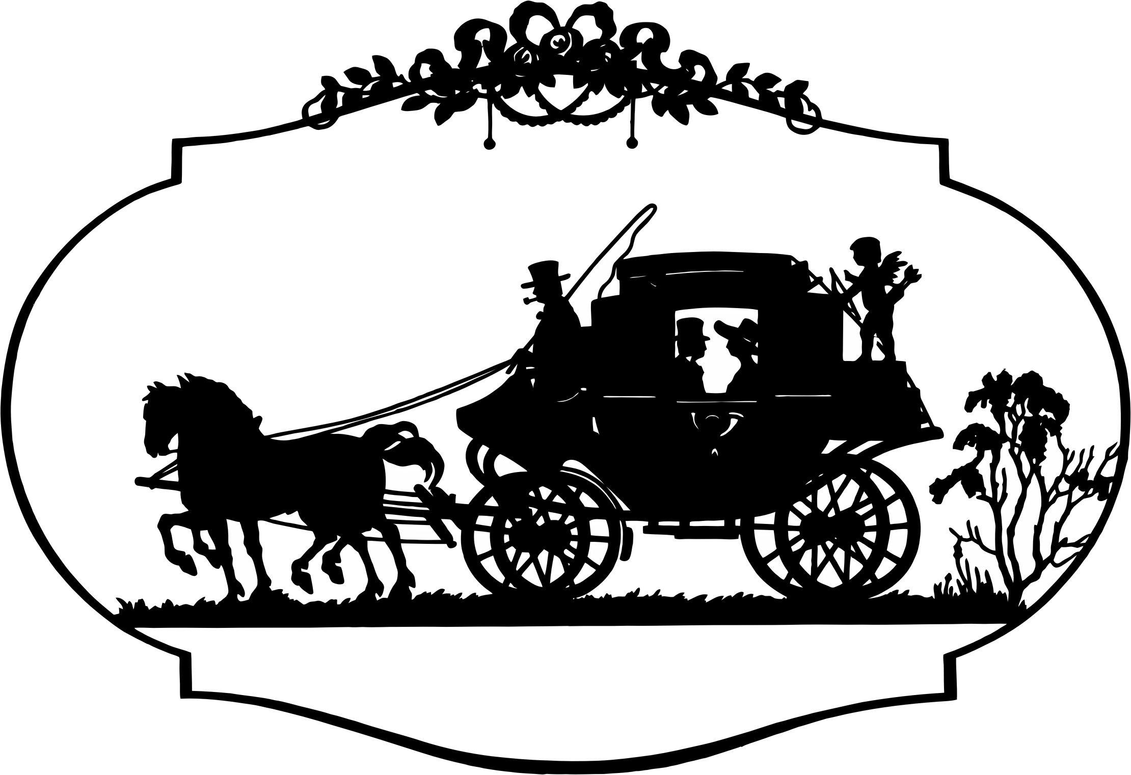 Pumpkin carriage black and white clipart svg royalty free Horse Carriage Clipart Group (52+) svg royalty free