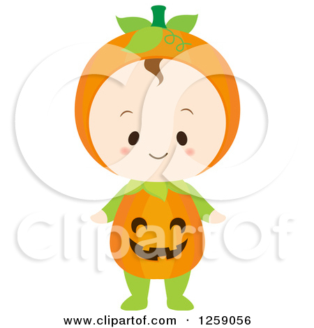 Pumpkin character clipart image freeuse Halloween character pumpkin girl clipart - ClipartFest image freeuse
