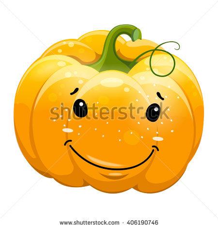 Pumpkin character clipart image transparent stock Cartoon Fun Smile Pumpkin Character Vector Stock Vector 406190761 ... image transparent stock