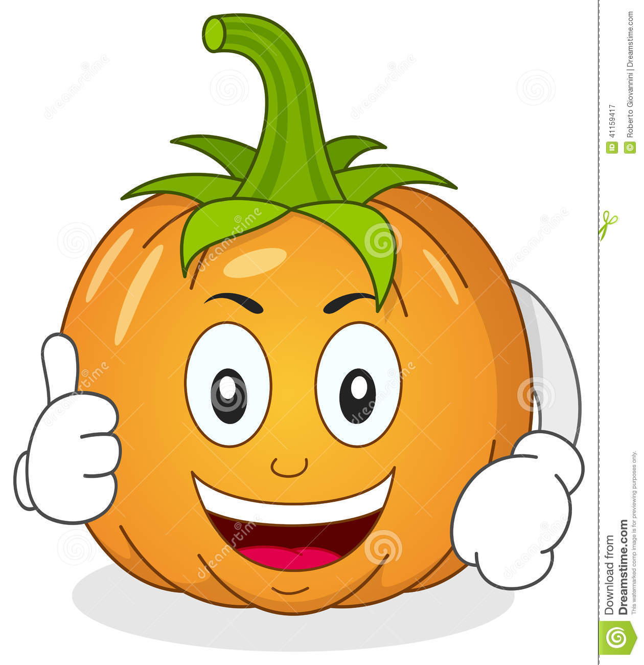 Pumpkin character clipart image free download Funny Pumpkin Character With Thumbs Up Stock Vector - Image: 41159417 image free download