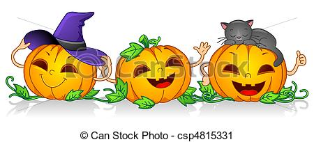 Pumpkin character clipart png transparent library Clipart of Happy Pumpkins - Illustration of Pumpkin Characters ... png transparent library