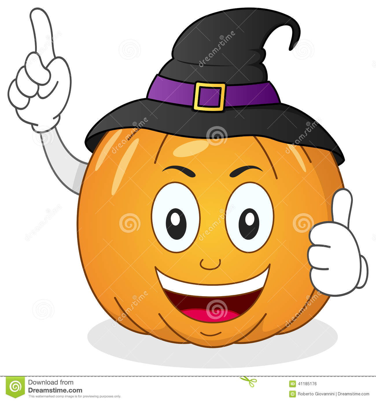 Pumpkin character clipart png free library Halloween Pumpkin Character With Hat Stock Vector - Image: 41185176 png free library