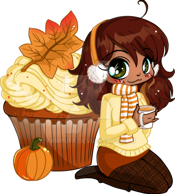 Pumpkin cheesecake clipart png royalty free download Pumpkin Spice Cupcake Chibi by YamPuff on DeviantArt png royalty free download