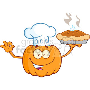 Pumpkin chef character clipart png free Pumpkin chef character clipart - ClipartFest png free