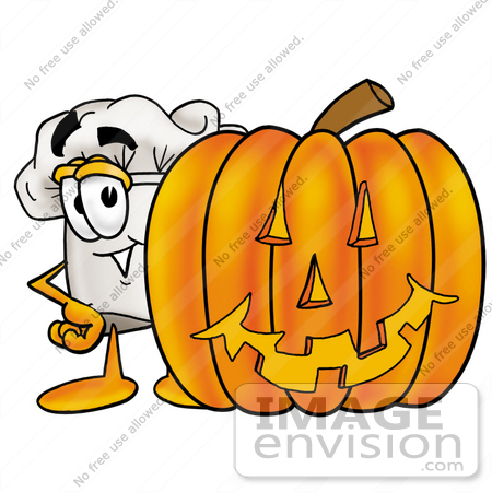 Pumpkin chef character clipart image transparent library Pumpkin chef character clipart - ClipartFest image transparent library