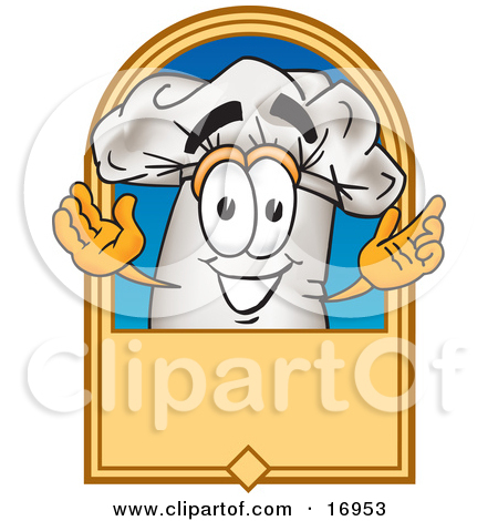 Pumpkin chef character clipart jpg transparent stock Clipart Picture of a Chefs Hat Mascot Cartoon Character With a ... jpg transparent stock