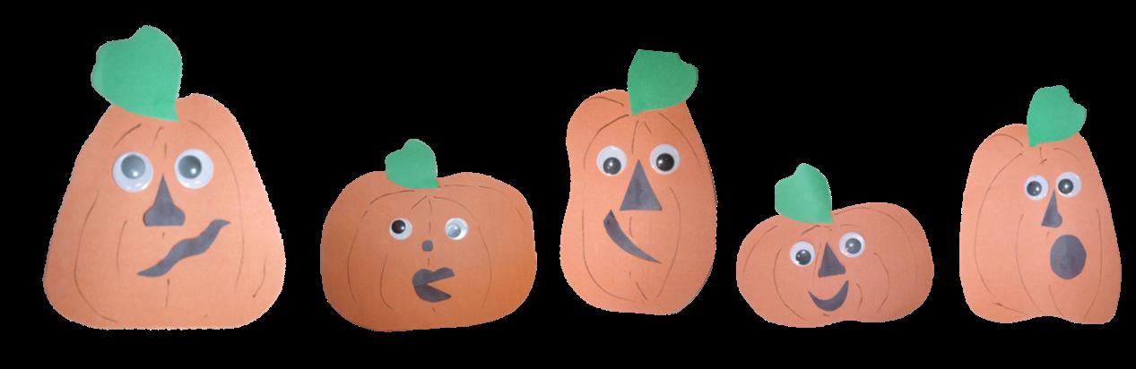 Pumpkin clipart face clip art transparent stock Row of Pumpkins Clipart (20+) clip art transparent stock