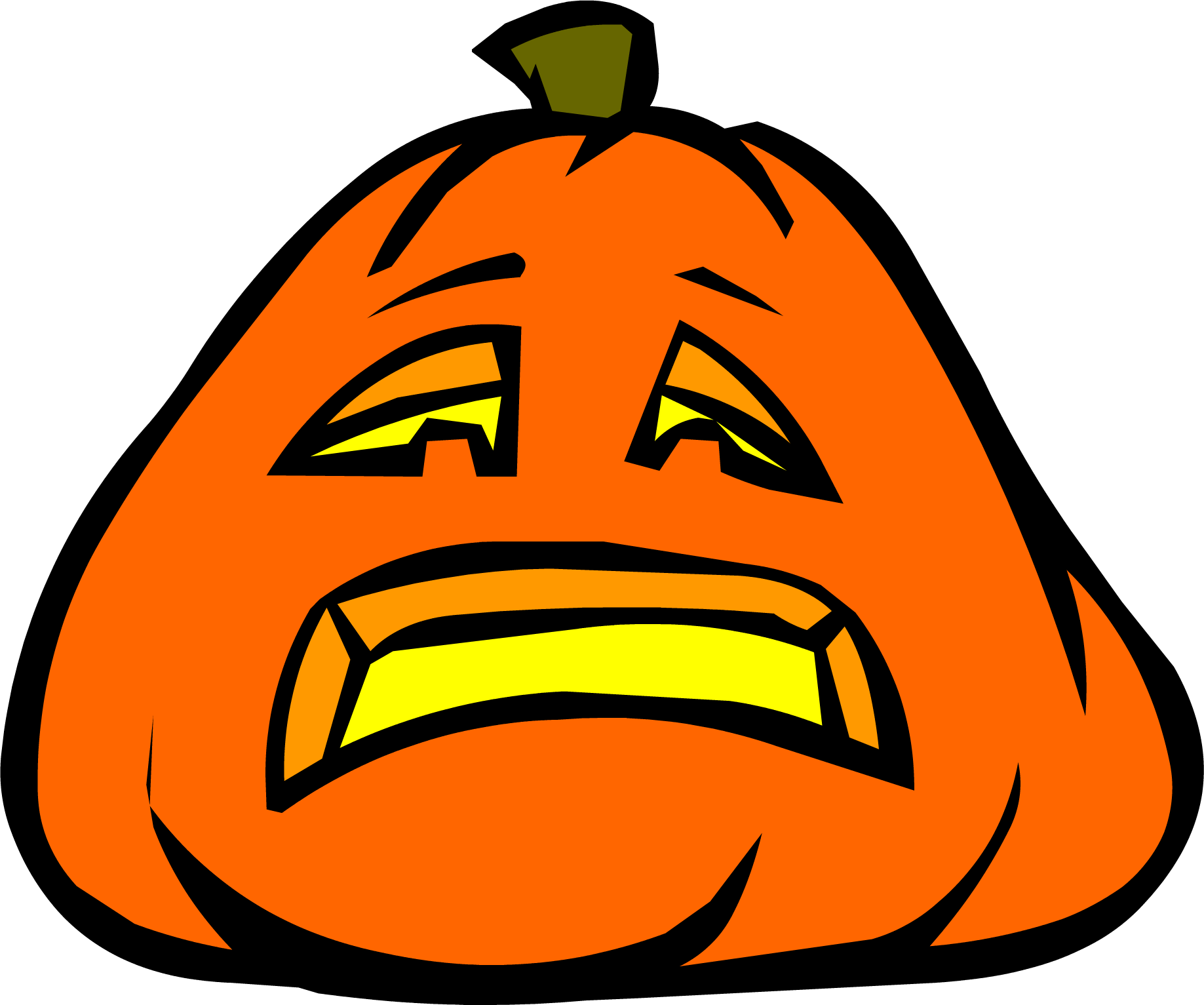 Pumpkin shape clipart royalty free download Sad Jack-O-Lantern | Club Penguin Wiki | FANDOM powered by Wikia royalty free download
