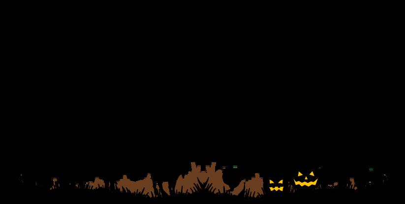 Pumpkin clipart footer border svg transparent stock Halloween - Filey Bird Garden & Animal Park svg transparent stock