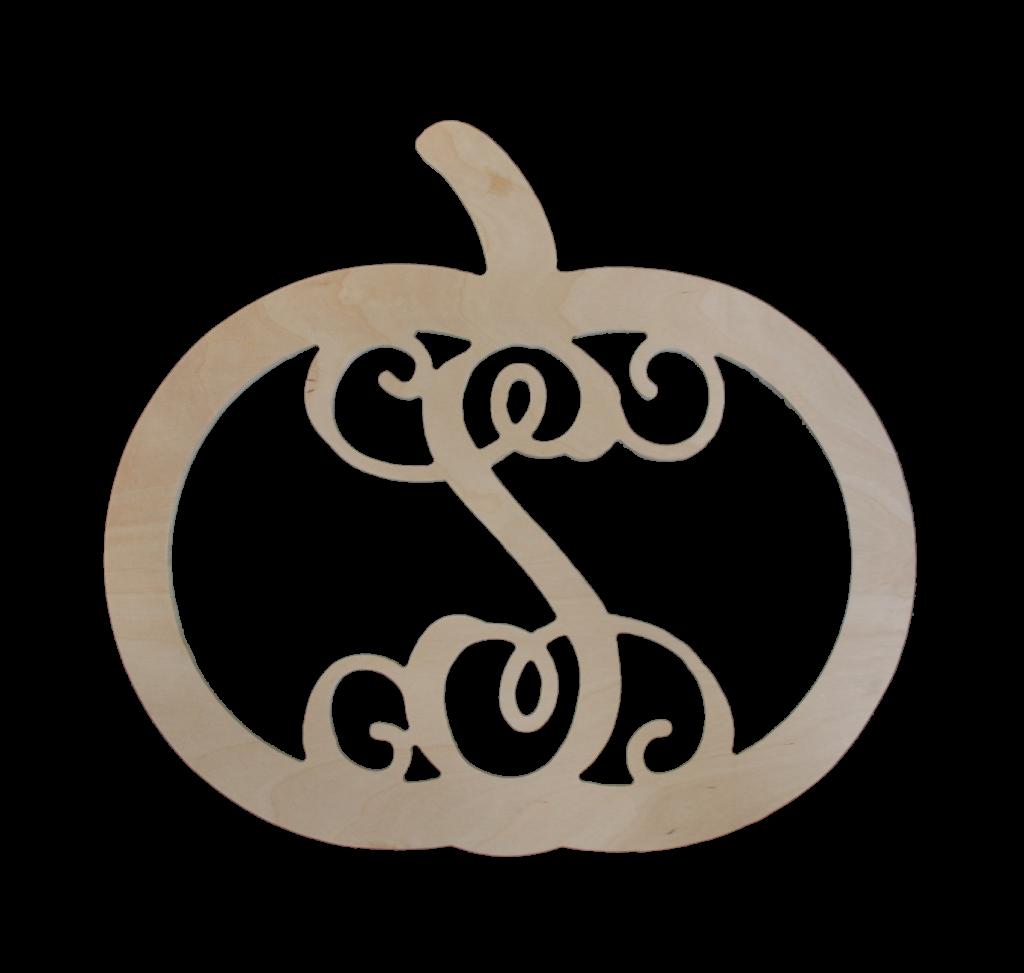 Pumpkin clipart for monogram clipart black and white 18