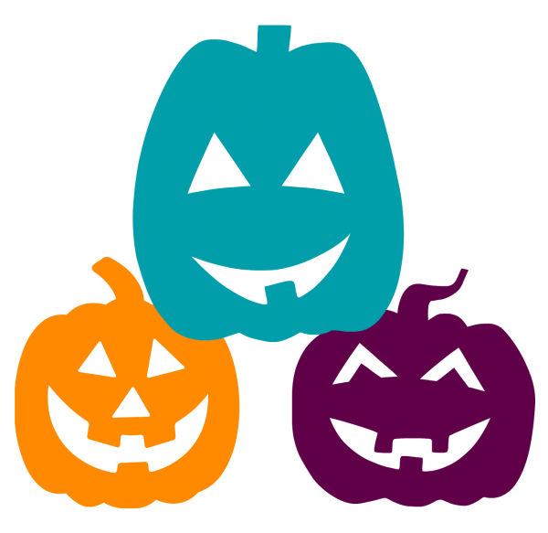 Pumpkin clipart in every color jpg black and white stock Teal Colored Pumpkins this Halloween and What they Mean - Owassoisms.com jpg black and white stock
