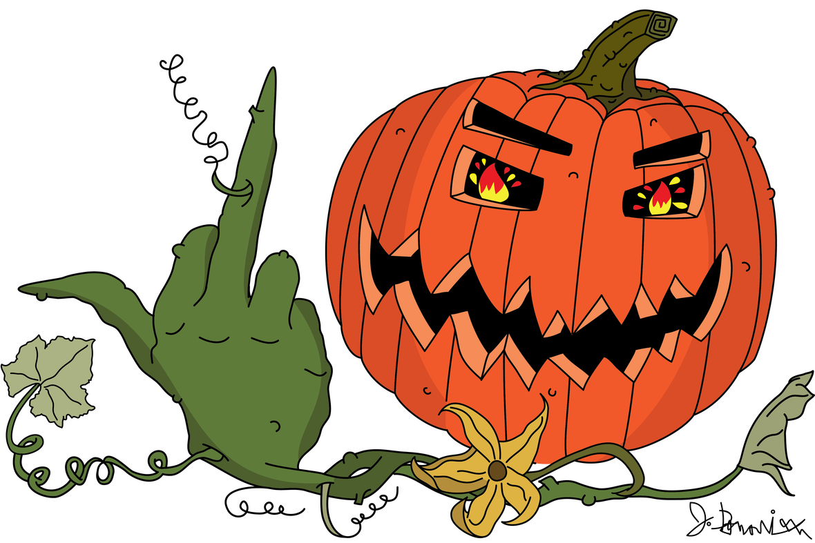"""Pumpkin clipart in every color clipart freeuse download F-You, I Love Halloween!"""" – WHITE HIPPO USA clipart freeuse download"""