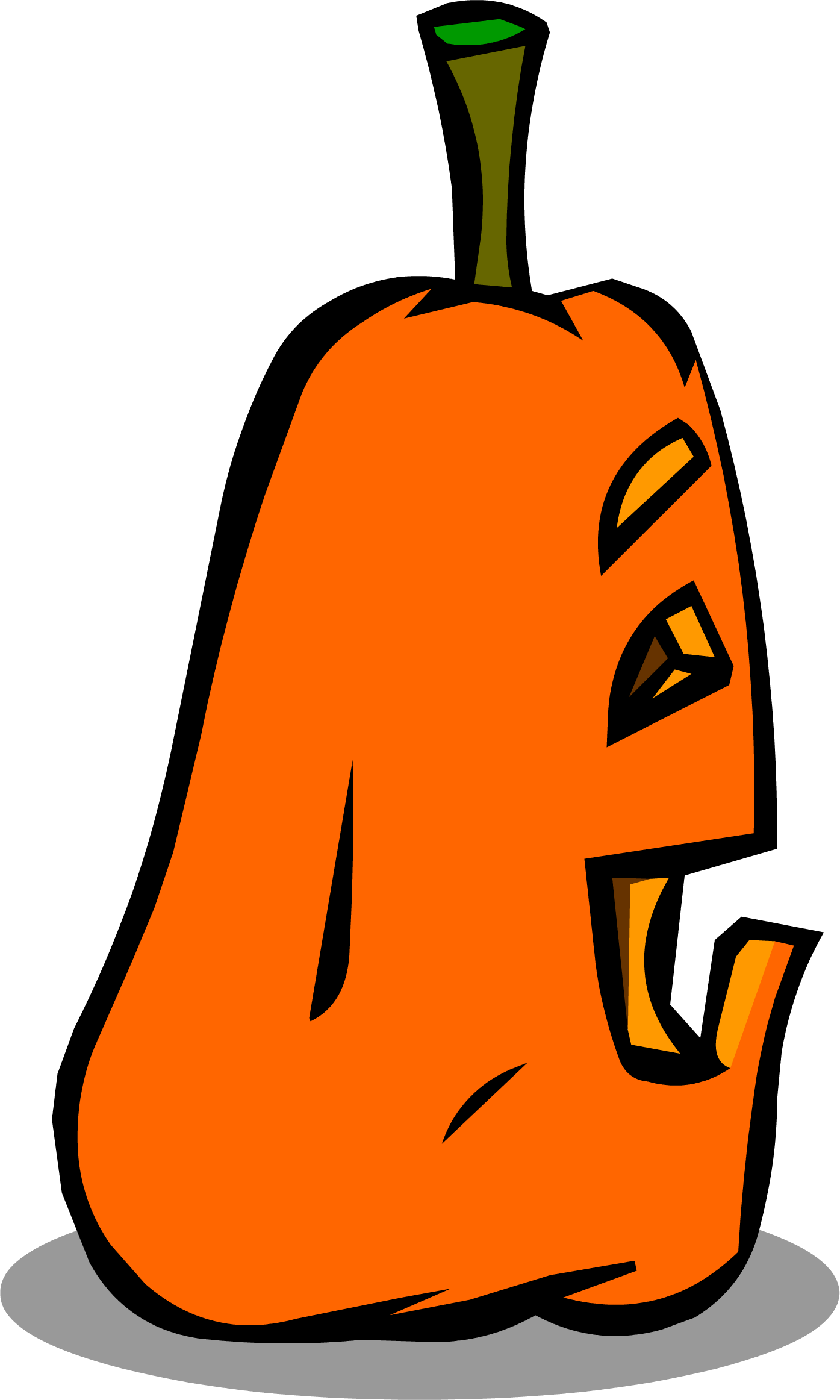 Pumpkin clipart jack o lantern sprite banner black and white library Image - Goofy Jack-O-Lantern sprite 007.png | Club Penguin Rewritten ... banner black and white library
