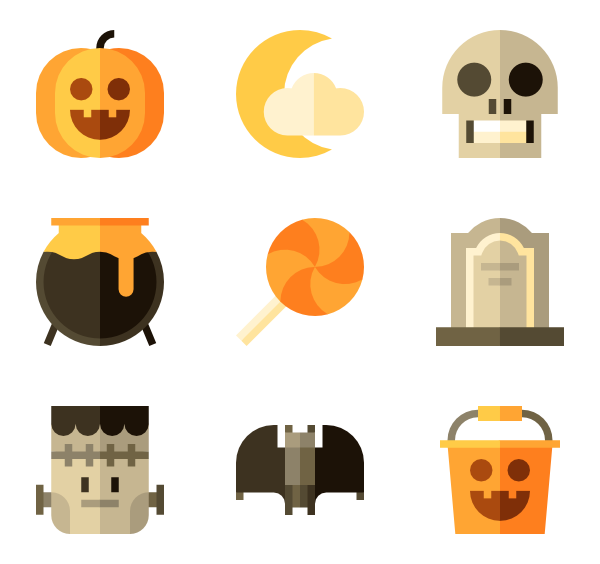 Top down view of a pumpkin clipart banner free stock Pumpkin Icons - 540 free vector icons banner free stock