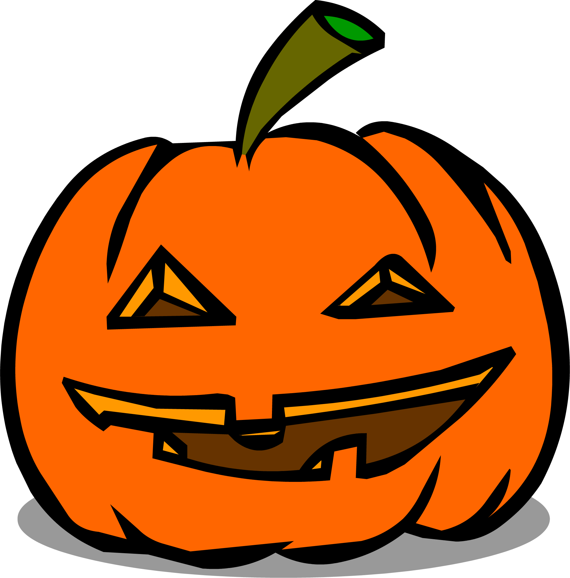 Pumpkin clipart jack o lantern sprite vector free Image - Happy Jack-O-Lantern sprite 002.png | Club Penguin Wiki ... vector free