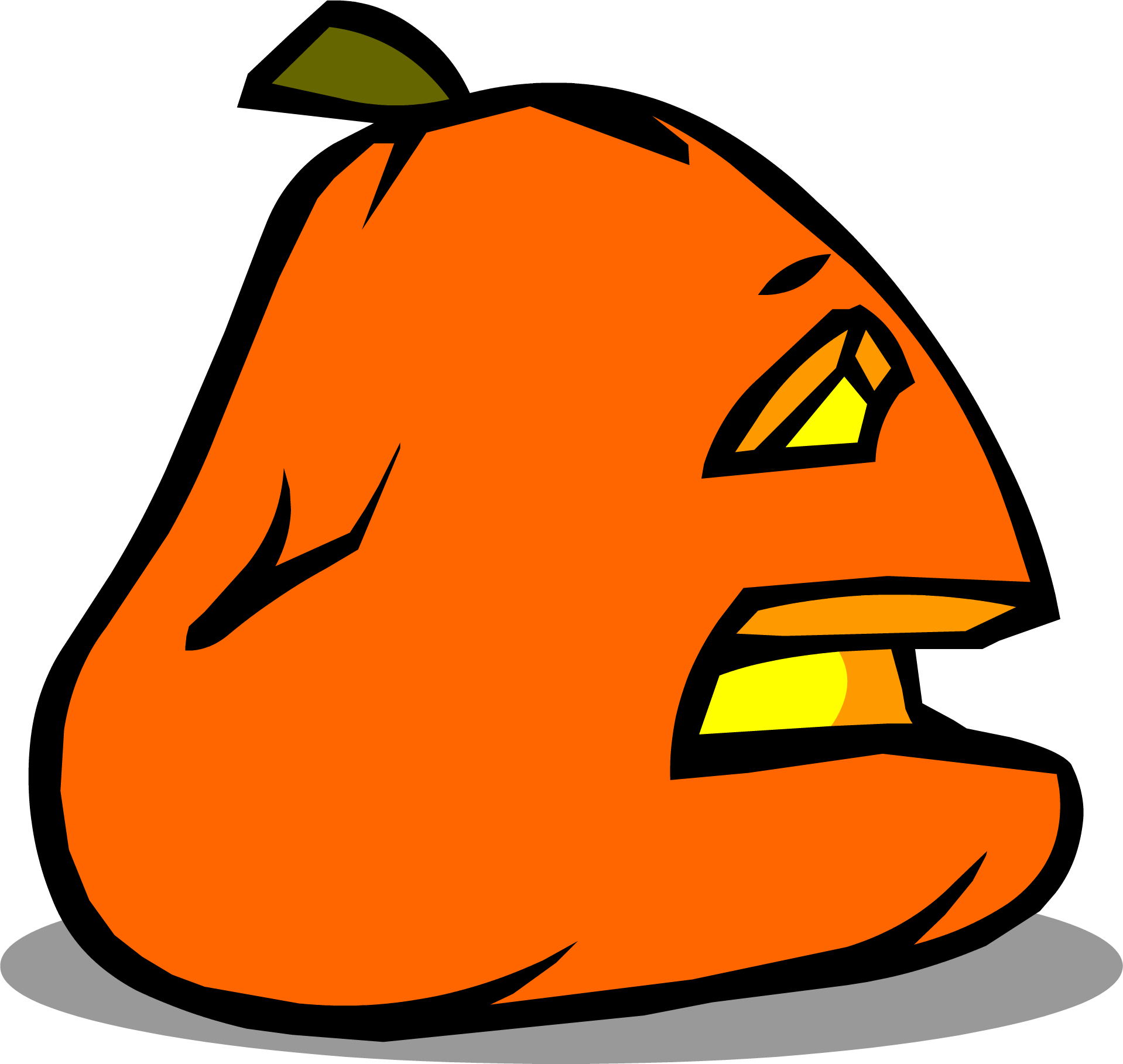 Pumpkin clipart jack o lantern sprite clip art black and white download Image - Sad Jack-O-Lantern sprite 006.png | Club Penguin Rewritten ... clip art black and white download