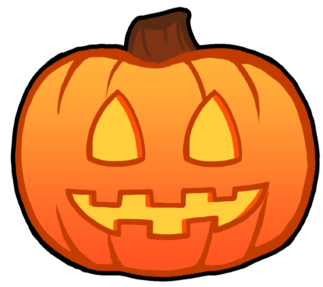 Pumpkin clipart jack o lantern sprite picture black and white library Pumpkin | OpenGameArt.org picture black and white library
