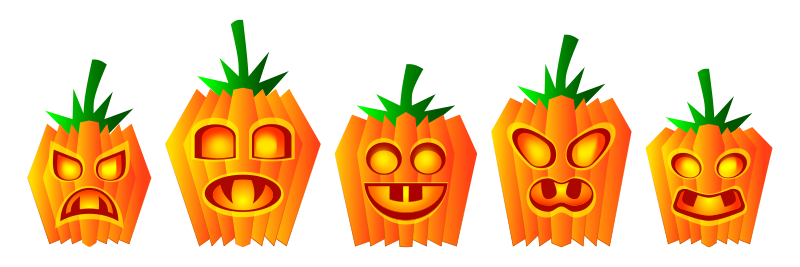 Pumpkin clipart row png library Row of cute pumkins clipart - ClipartFox png library