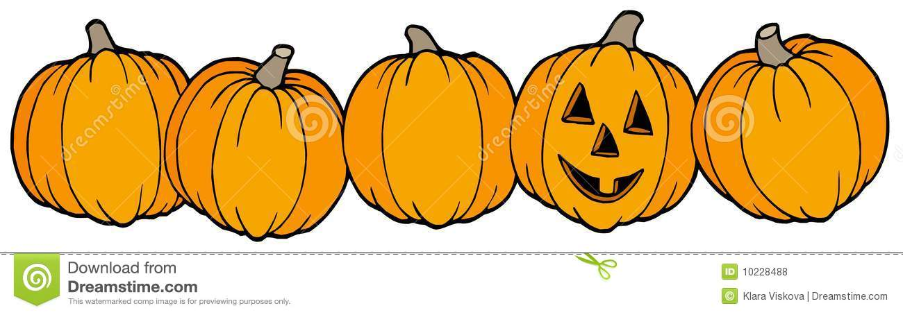 Pumpkin clipart row picture free stock Line Of Pumpkins Royalty Free Stock Photos - Image: 10228488 picture free stock