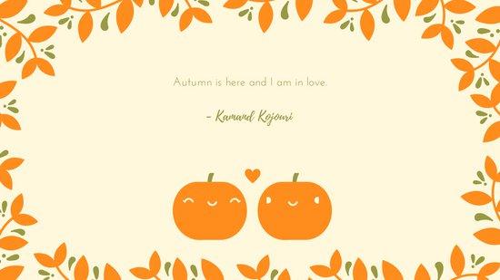 Pumpkin clipart wallpaper for fall image transparent download Cute Pumpkin Couple Fall Desktop Wallpaper - Templates by Canva image transparent download