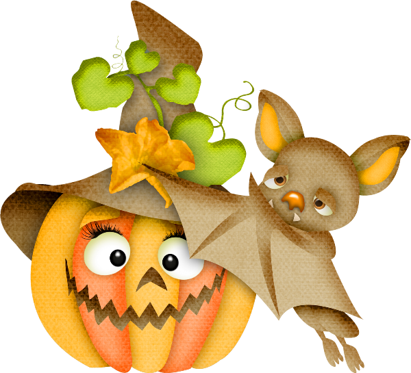 Pumpkin cluster clipart vector free library HALLOWEEN PUMPKIN AND BAT * | CLIP ART - HALLOWEEN 2 - CLIPART ... vector free library