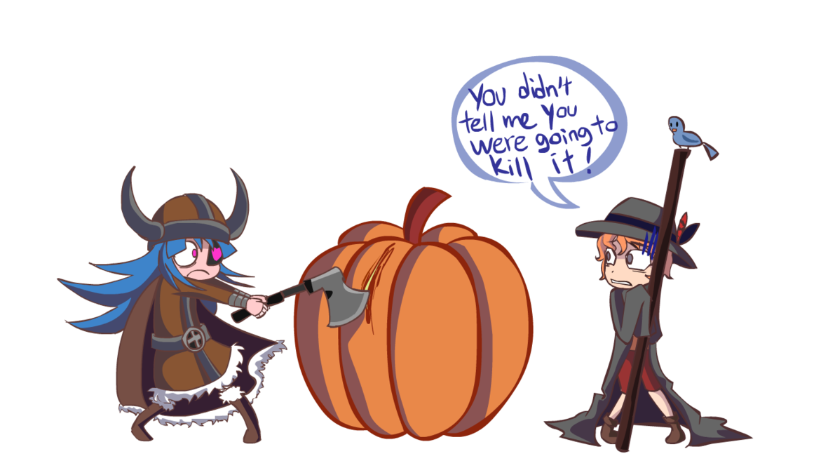 Pumpkin curl clipart clipart freeuse library PUMPKIN CARVING IS SRS BNS by NightMargin on DeviantArt clipart freeuse library