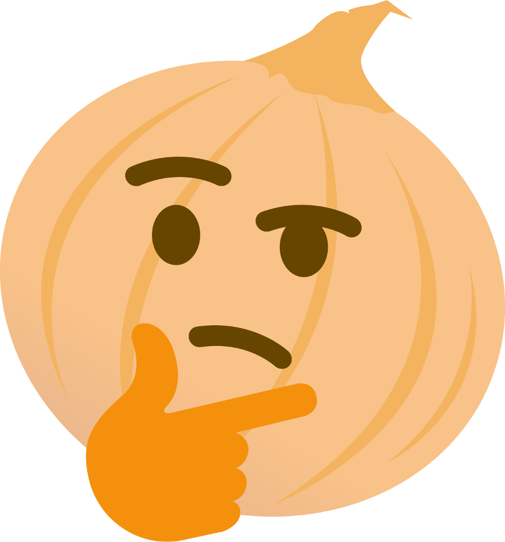 Pumpkin emoji clipart graphic library download Onion Thinking - Imgur graphic library download