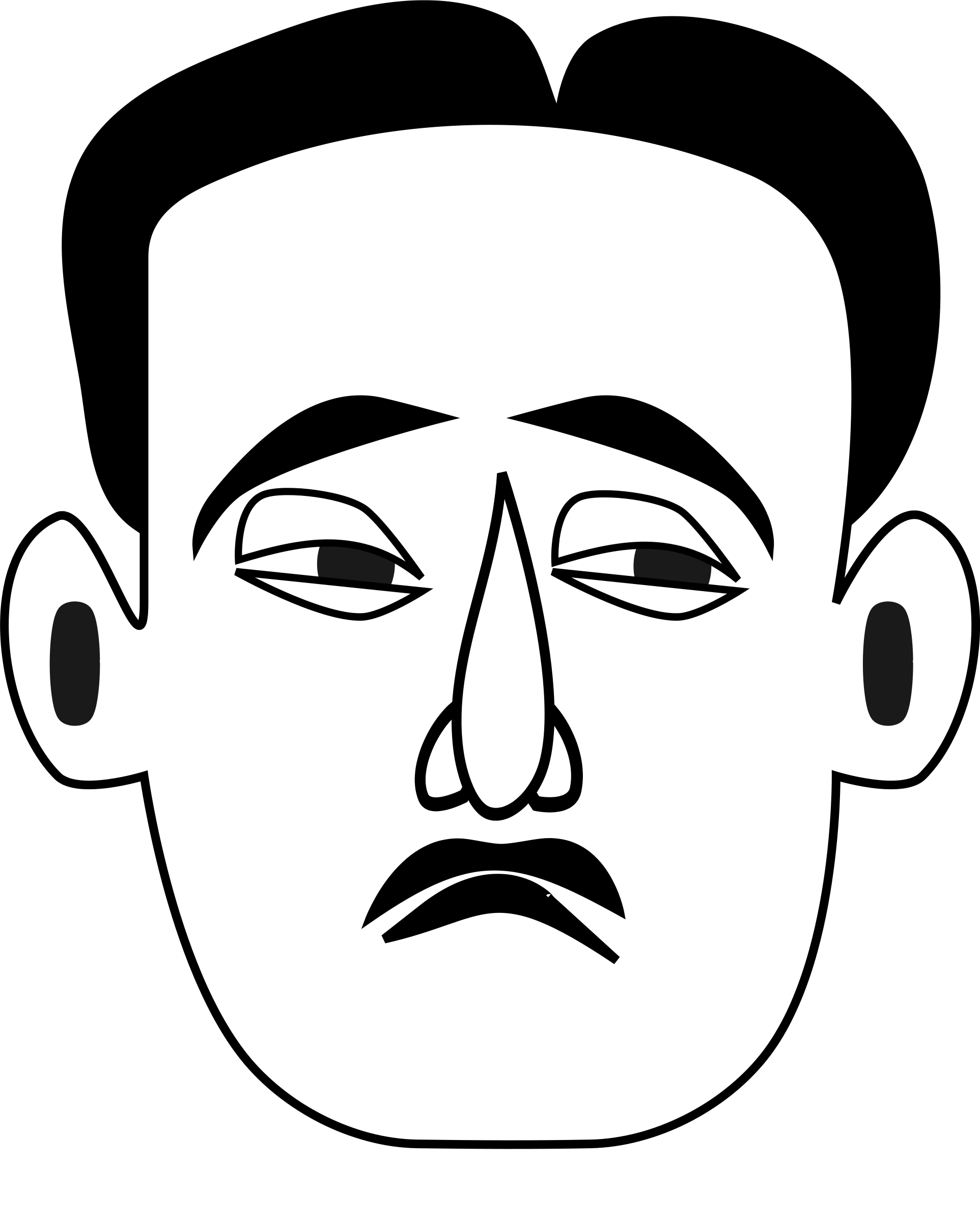 Pumpkin face clipart black and white banner Sad Face Images | Free download best Sad Face Images on ClipArtMag.com banner