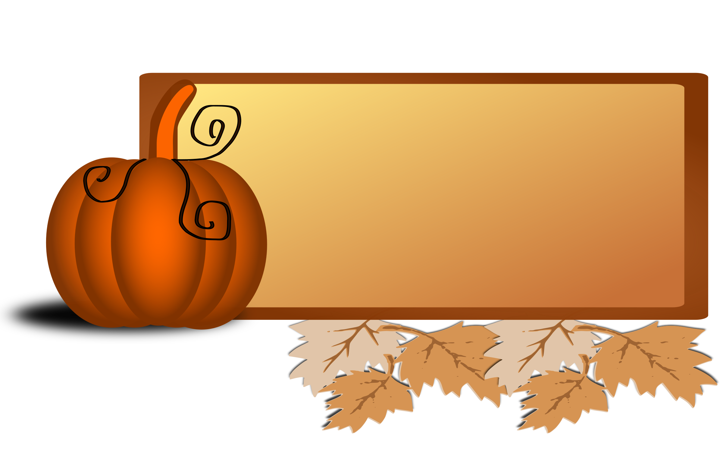 Pumpkin frame clipart jpg free stock Clipart - Fall clip art jpg free stock