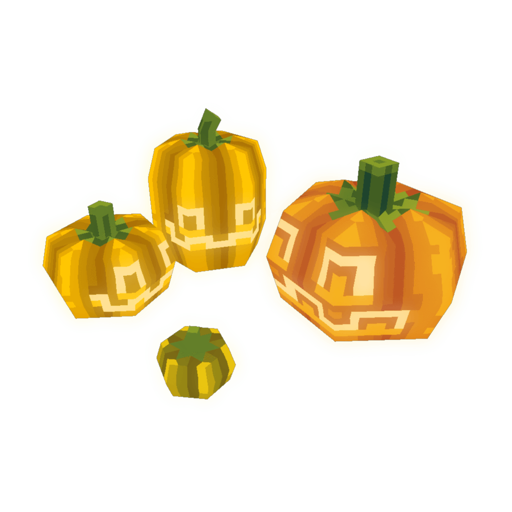 Pumpkin painting clipart picture freeuse Pixel Pumpkins 3D Models - Bitgem picture freeuse
