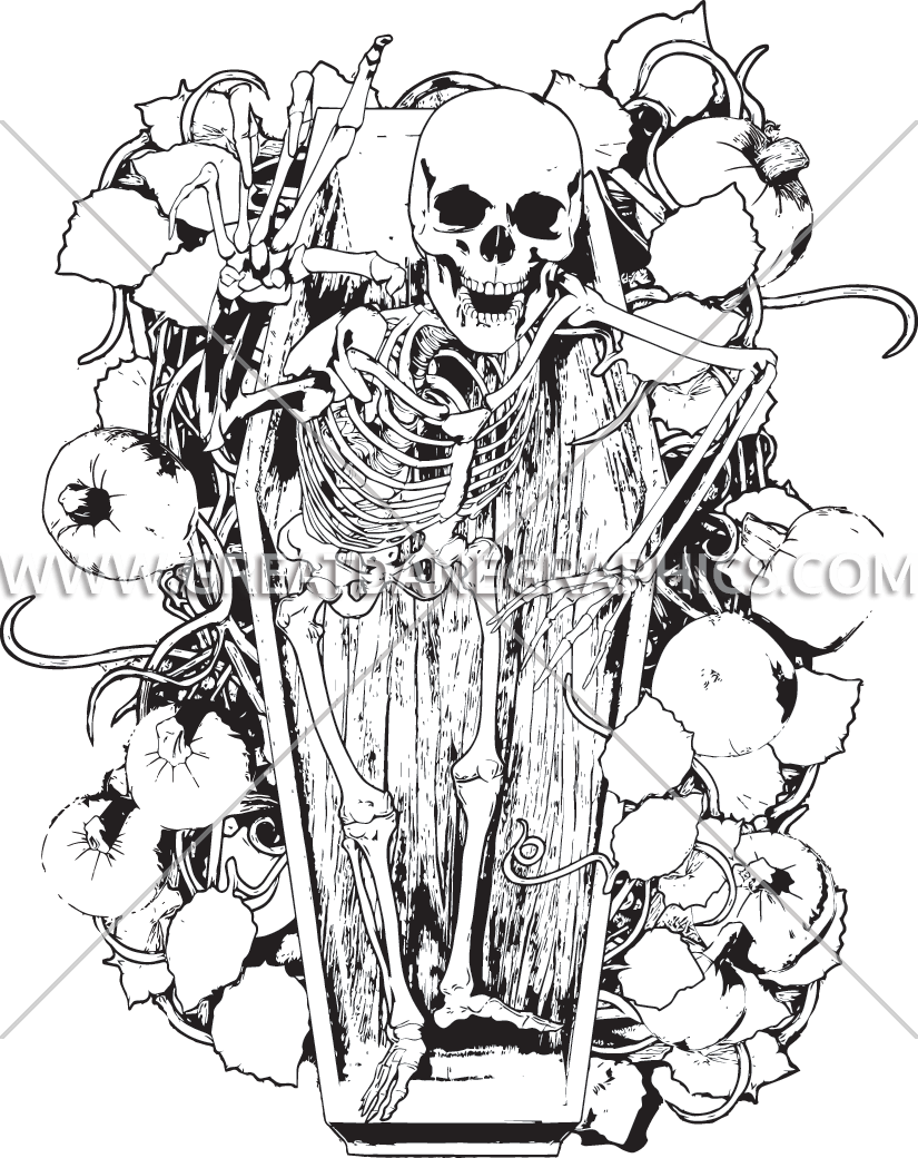 Pumpkin patch clipart black and white image black and white download Halloween Casket Pumpkin Patch | Production Ready Artwork for T ... image black and white download