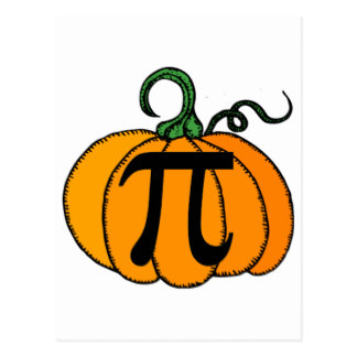 Pumpkin pi math clipart graphic royalty free library Pumpkin Pi Postcards   Zazzle graphic royalty free library
