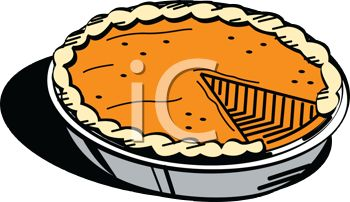 Pumpkin pi math clipart image Old Fashioned Pumpkin Pie for Thanksgiving - Royalty Free Clipart ... image