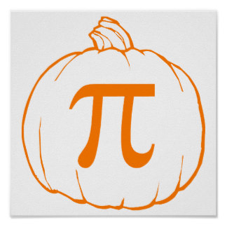 Pumpkin pi math clipart svg black and white Funny Pi Posters | Zazzle svg black and white