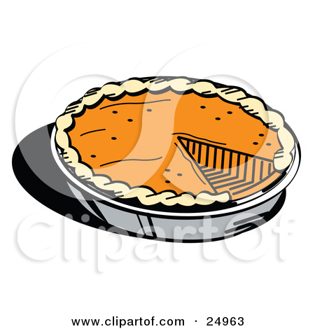 Pumpkin pie clipart jpeg banner black and white download Royalty-Free (RF) Clipart Illustration of a Fresh Pumpkin Pie With ... banner black and white download