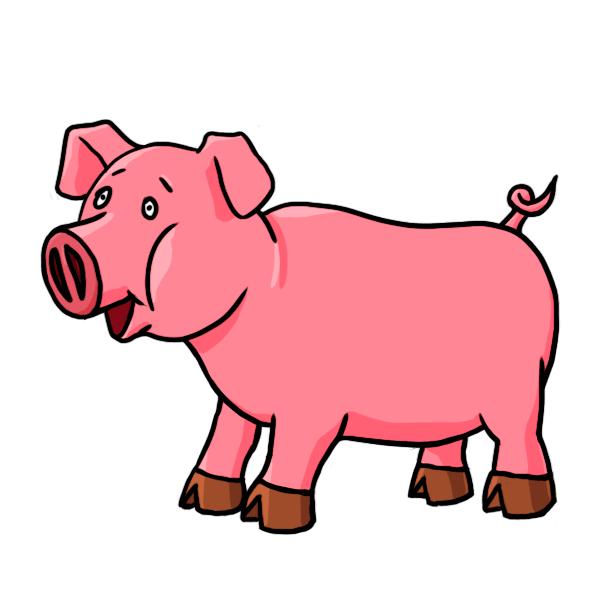 Pumpkin pig clipart vector library library Free Cartoon PIG, Download Free Clip Art, Free Clip Art on Clipart ... vector library library