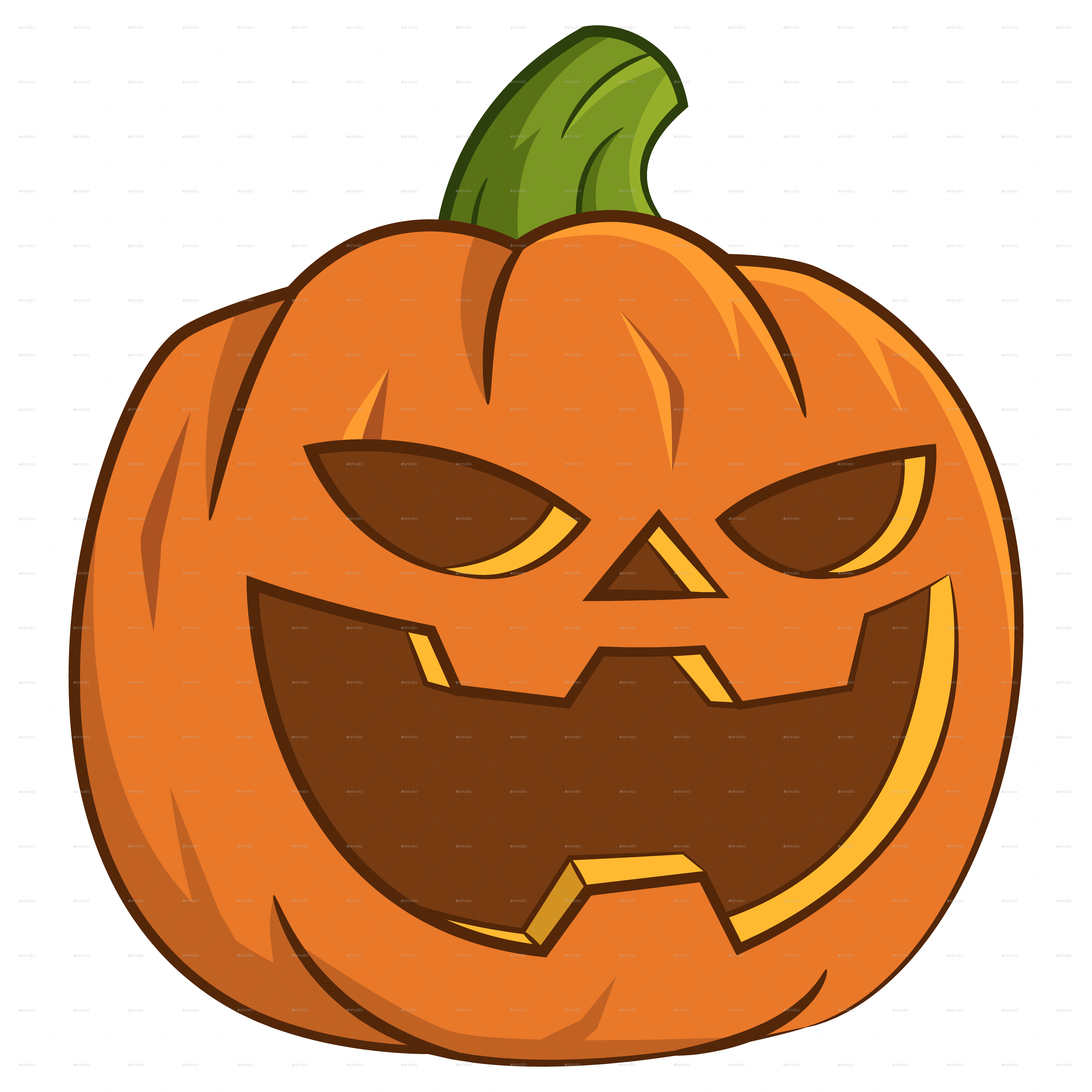 Pumpkin png clipart for photoshop graphic black and white library Pumpkin for Halloween. by Gatts | GraphicRiver graphic black and white library