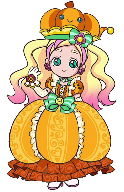 Pumpkin princess clipart vector transparent stock Image - Profile of Cure Flora with her pumpkin princess costume.png ... vector transparent stock
