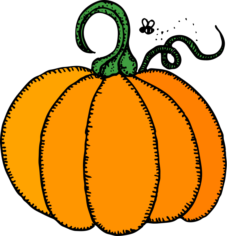 Pumpkin drinking clipart