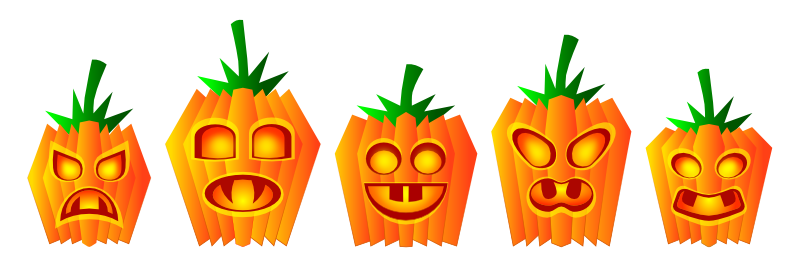 Pumpkin row clipart picture transparent library Image - Halloween Pumpkin Row.png | Yatalu Wiki | Fandom powered ... picture transparent library