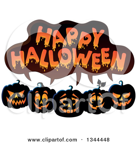 Pumpkin row clipart clipart free Clipart Of A Sketched Black And White Evil Halloween Jackolantern ... clipart free