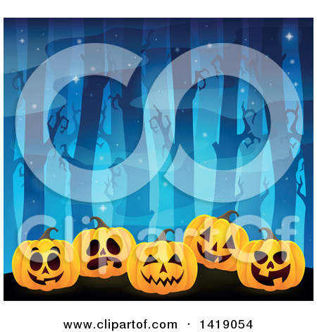 Pumpkin row clipart jpg library download Royalty Free Halloween Pumpkin Illustrations by visekart Page 2 jpg library download
