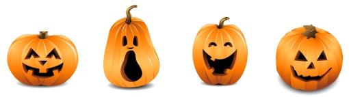 Pumpkin row clipart black and white Pumpkin line separatora clipart - ClipartFest black and white