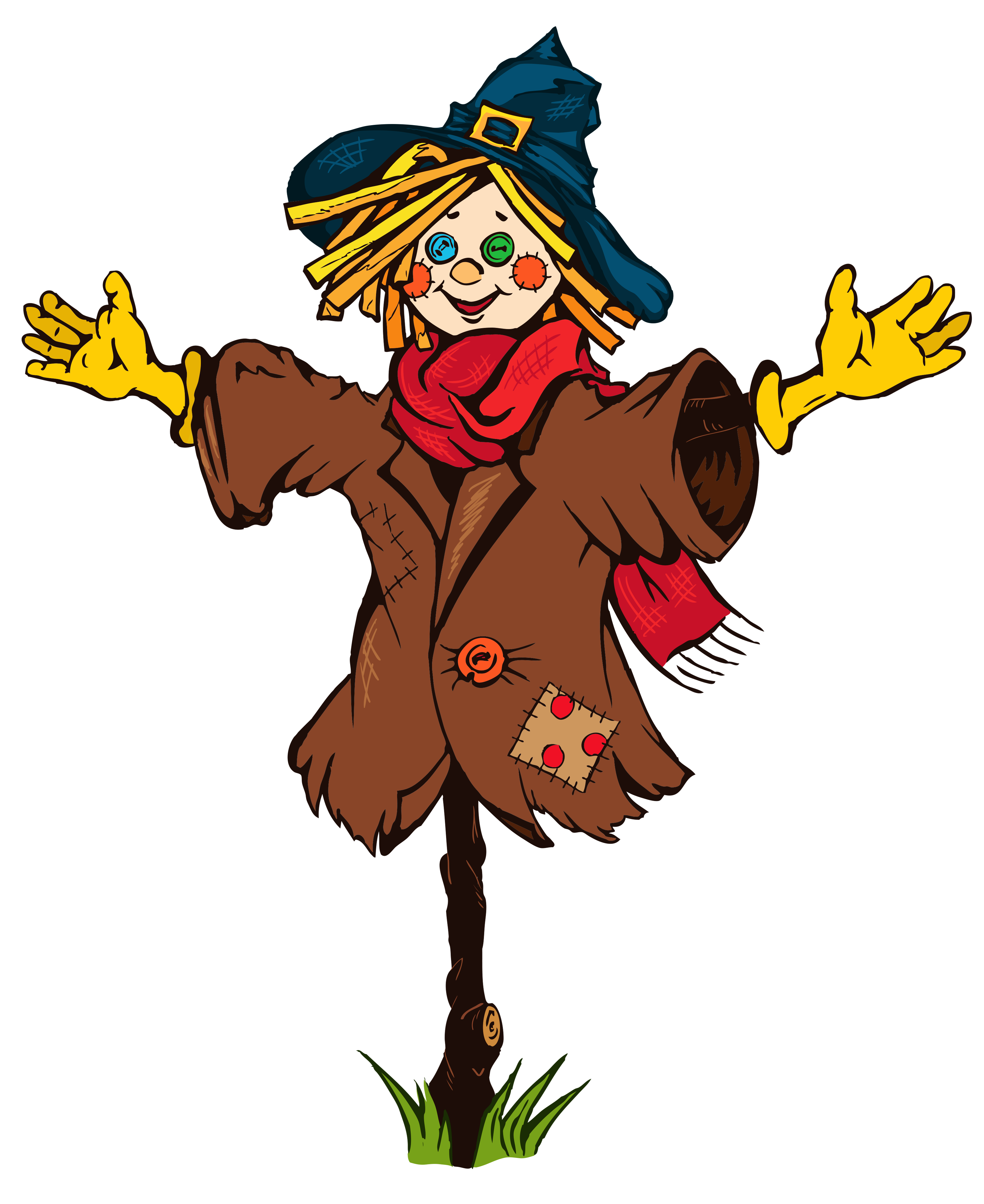 28+ Collection of Thanksgiving Scarecrow Clipart | High quality ... svg black and white stock
