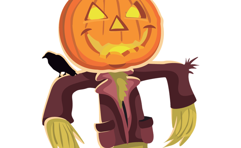 Scarecrow and pumpkin clipart picture free stock Scary Scarecrow Face Clip Art | Beauty Within Clinic picture free stock