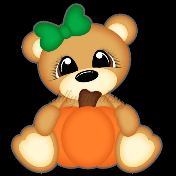 Pumpkin teddy bear clipart library Fall library