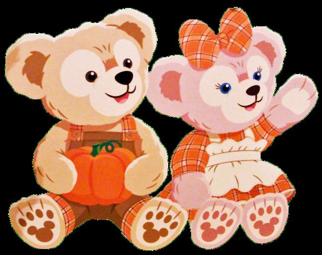 Pumpkin teddy bear clipart picture royalty free disney bear Duffy ShellieMay happy halloween pumpkin... picture royalty free